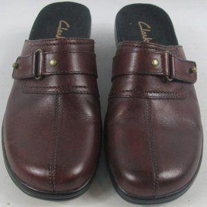 Clarks Leather Cranberry Mule SZ 6M